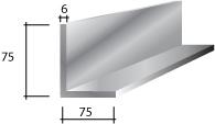 c) 75 x 75 x 6 Galvanised Lintel