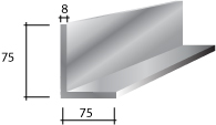 d) 75 x 75 x 8 Galvanised Lintel
