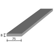 a) 75 x 8 Zinc Flat Bar