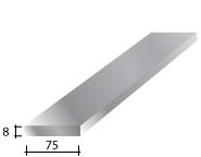 a) 75 x 8 Galvanised Flat Bar
