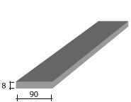 b) 90 x 8 Zinc Flat Bar