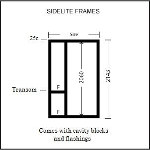 Sidelite Entry Frame