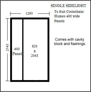 Sidelite Entry Frame To Suit 400w Panel